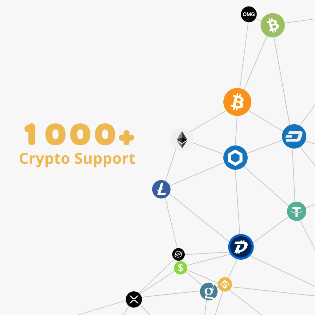 1000 Crypto Coins Tokens Support